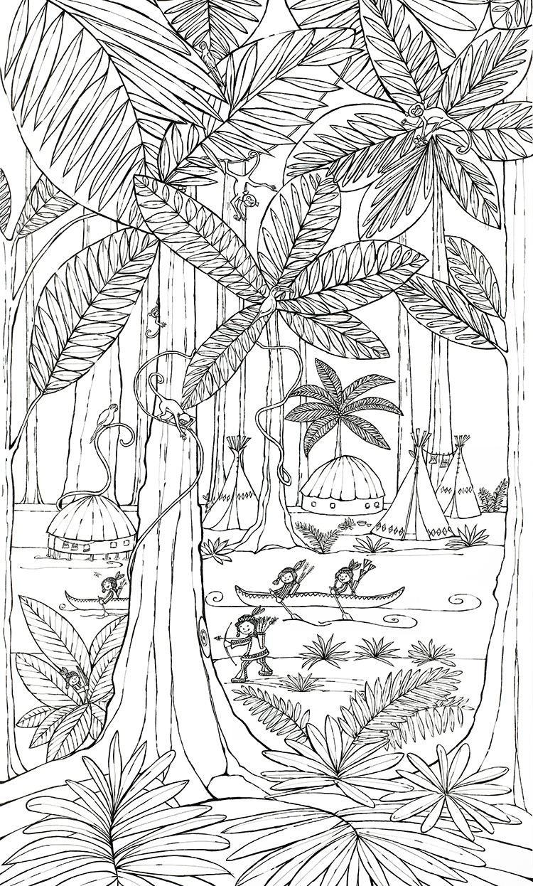 jungle kleurplaat hanneke de jager